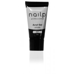 NAILP ACRYL GEL UV/LED #001 ΑΣΒΕΣΤΗΣ 30gr