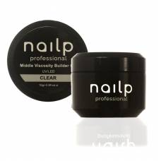 NAILP BUILDER GEL NO HEAT MIDDLE VISCOSITY UV/LED CLEAR 15gr